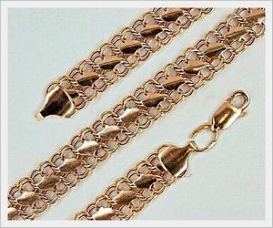 золотые женские цепочки 40 см
